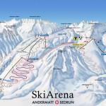 Sedrun-Andermatt Piste Map